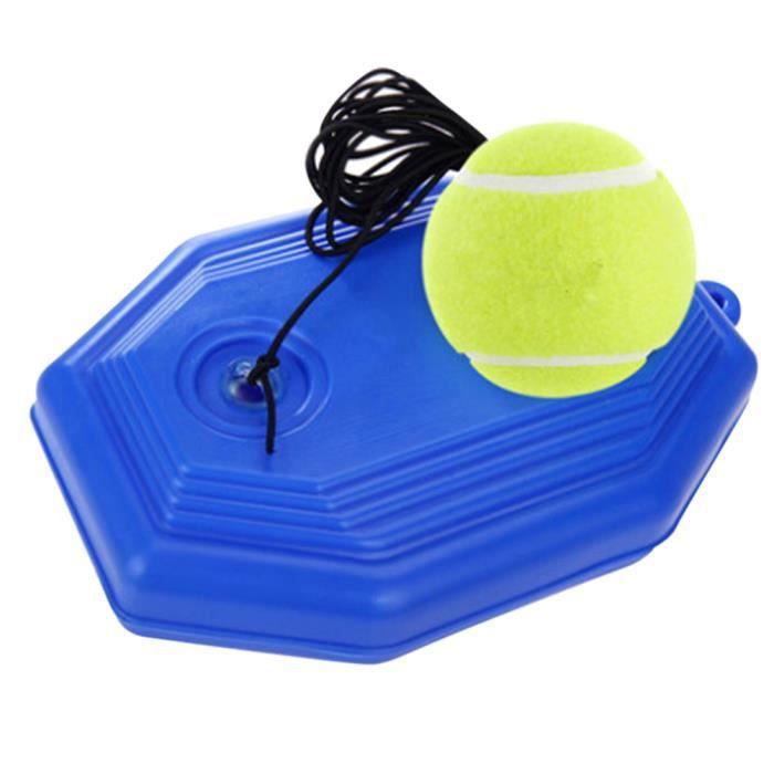 Entraîneur de Balles de Tennis, Entraînement de Tennis Balle Rebond Base avec Corde pour Entraînement Individuel / Débutants - Carré