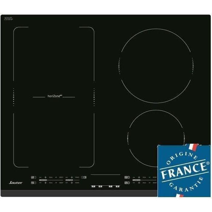 SAUTER SPI4664B Table de Cuisson Induction - 4 foyers - 7200W - L60 x P51cm - Revêtement verre - Noir