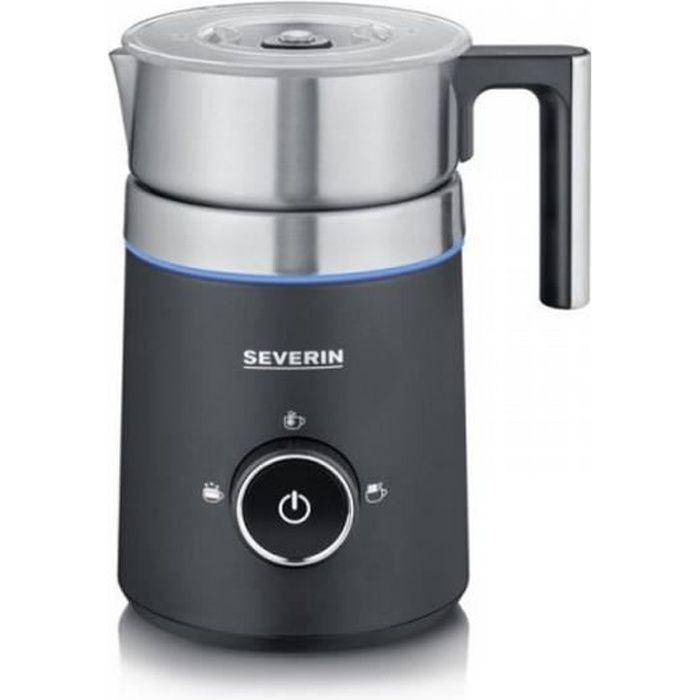 severin - emulsionneur de lait 500w 0.5l inox/noir - sm3585