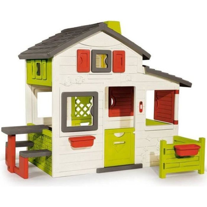 Maison Friends House en plastique anti-UV SMOBY avec Sonnette Incluse