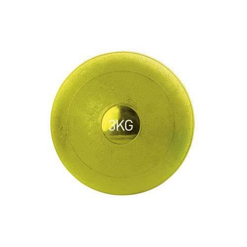 Medecine ball souple 3 kg-COLORIS JAUNE