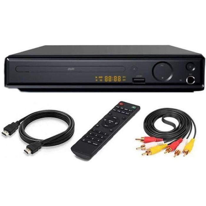 GR23040-SURENHAP Lecteur DVD 4K UHD 1080P pour TV DVD - SVCD - CD - VCD haute définition, avec câble AV HDMI - 5a6fd