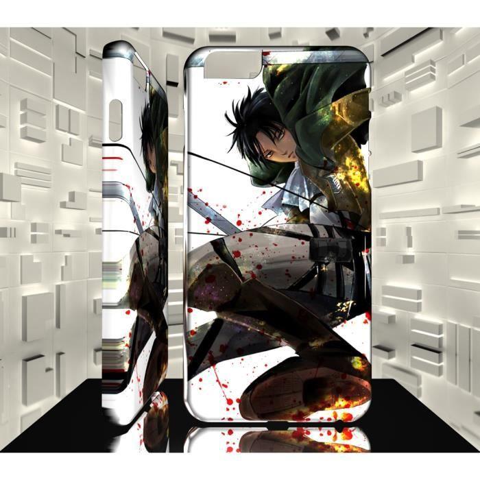 Coque Design iPhone 8 MAF Shingeki no Kyojin Livai Levi Ackerman ...