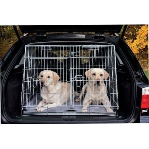 cage double de transport pour chien achat vente pas cher. Black Bedroom Furniture Sets. Home Design Ideas