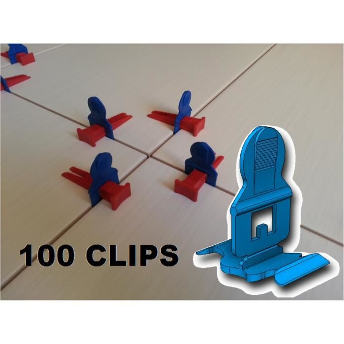 Croisillons auto nivelant carrelage 100 clips achat for Carrelage clips