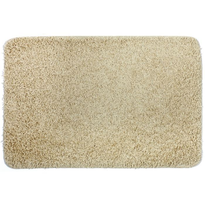 tapis de bain shaggy beige achat vente tapis de bain cdiscount. Black Bedroom Furniture Sets. Home Design Ideas