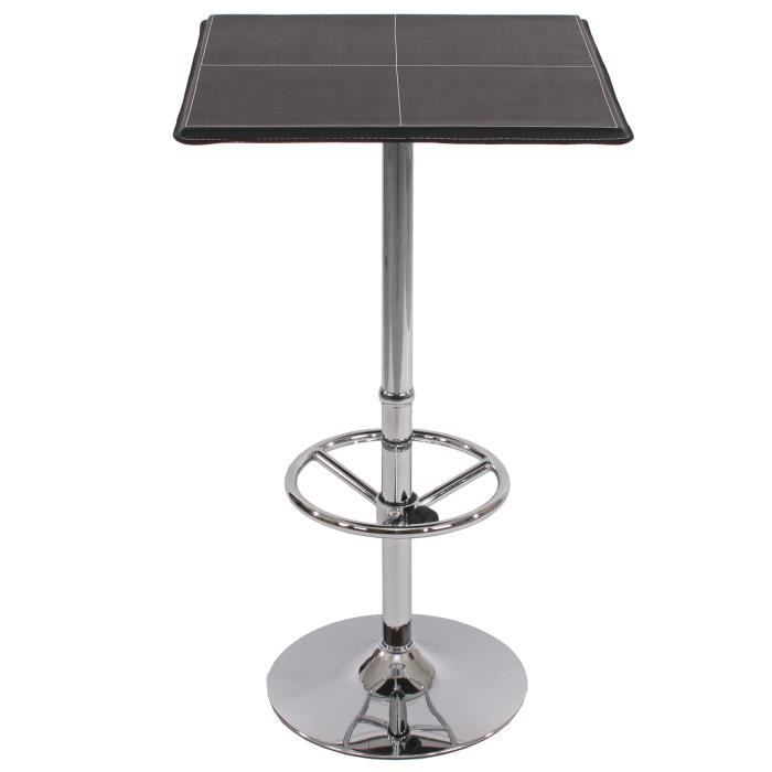 Table de bar table haute chicago avec repose pied for Table de bar haute but