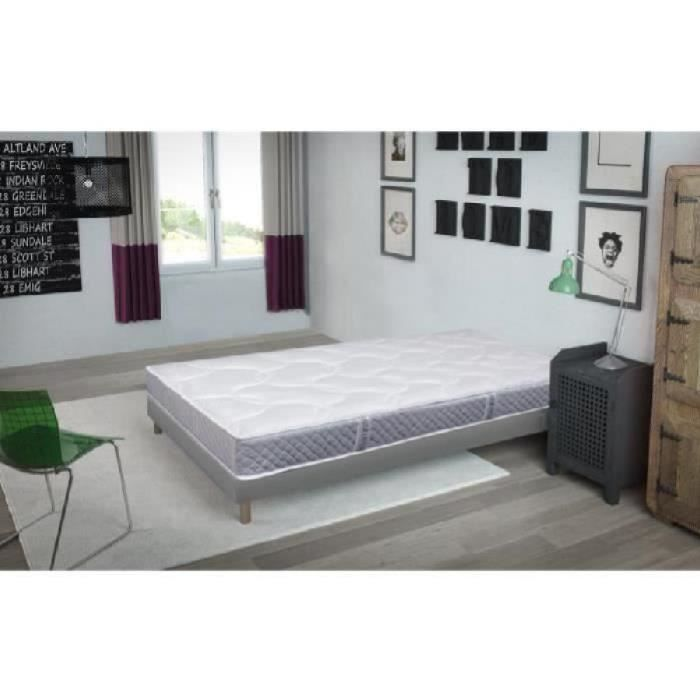 finlandek kevat ensemble matelas sommier kevat 90x190 cm ressorts tapissier equilibr. Black Bedroom Furniture Sets. Home Design Ideas