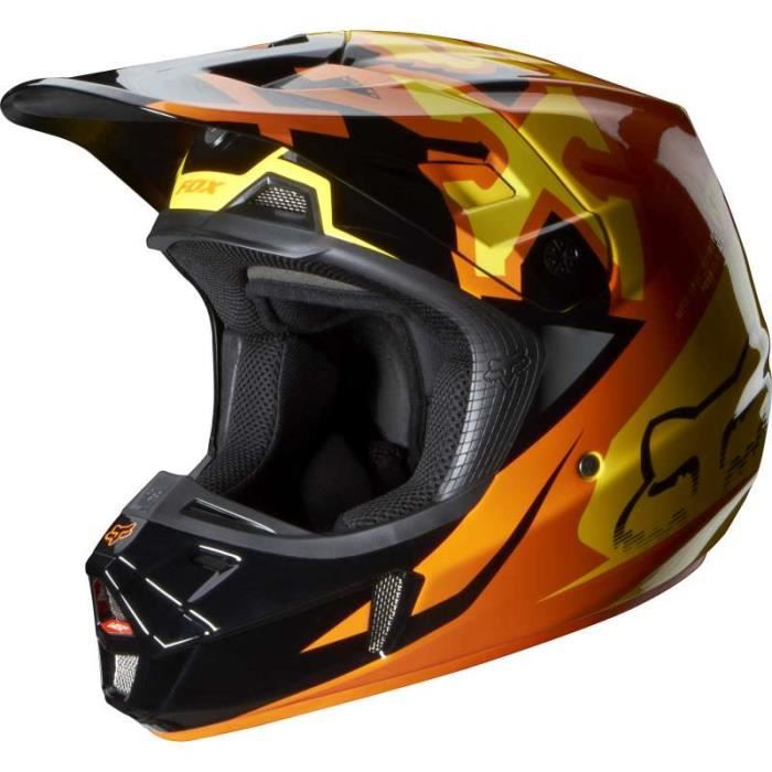 casque de moto cross fox achat vente casque de moto. Black Bedroom Furniture Sets. Home Design Ideas