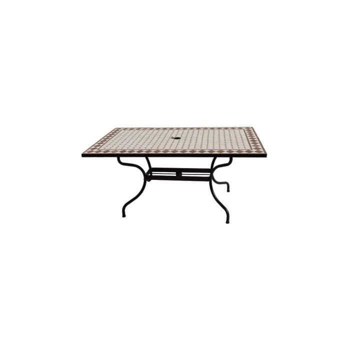 Table Zellige L 160 X L 90 X H 74 Cm Achat Vente Table A