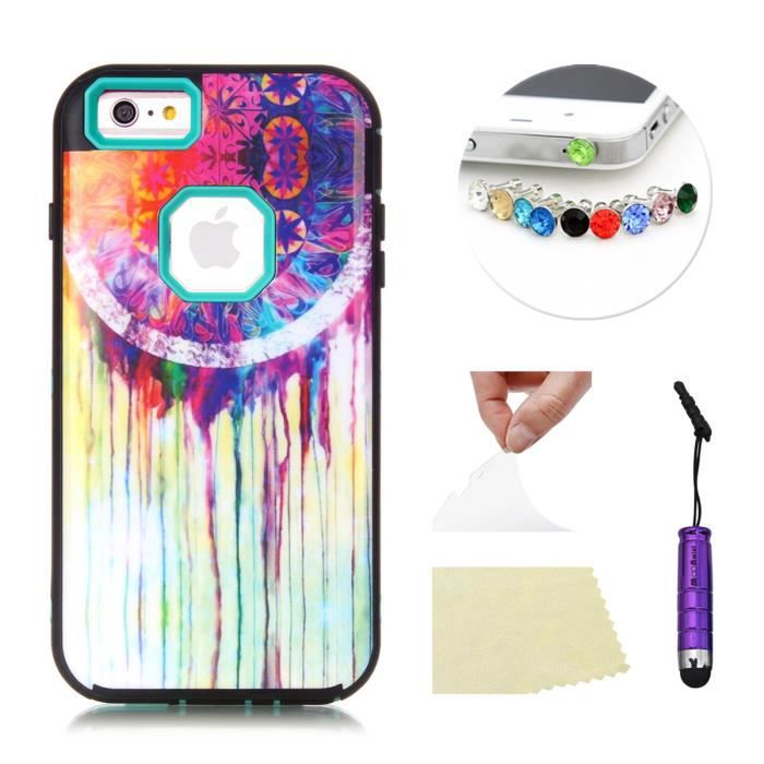 coque apple iphone 6 plus 5 5 pouces moonmini coque hybride 3 en 1 avec peinture l 39 huile. Black Bedroom Furniture Sets. Home Design Ideas