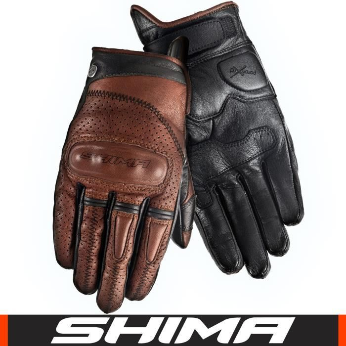 shima caliber gants moto marron vintage retro r tro custom achat vente gants sous gants. Black Bedroom Furniture Sets. Home Design Ideas