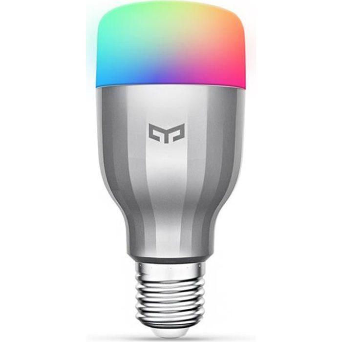 E26 T/él/écommande Bluetooth 4.0 Smart LED Ampoule Lampe avec haut-parleur Lecteur de musique pour la maison et la nuit Standard E27 Ampoule intelligente Bluetooth RVB Couleur Dimmable blanc