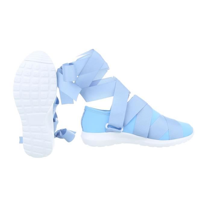 femmes chaussures Loisirs Chaussures Sneakers Bleu clair 36