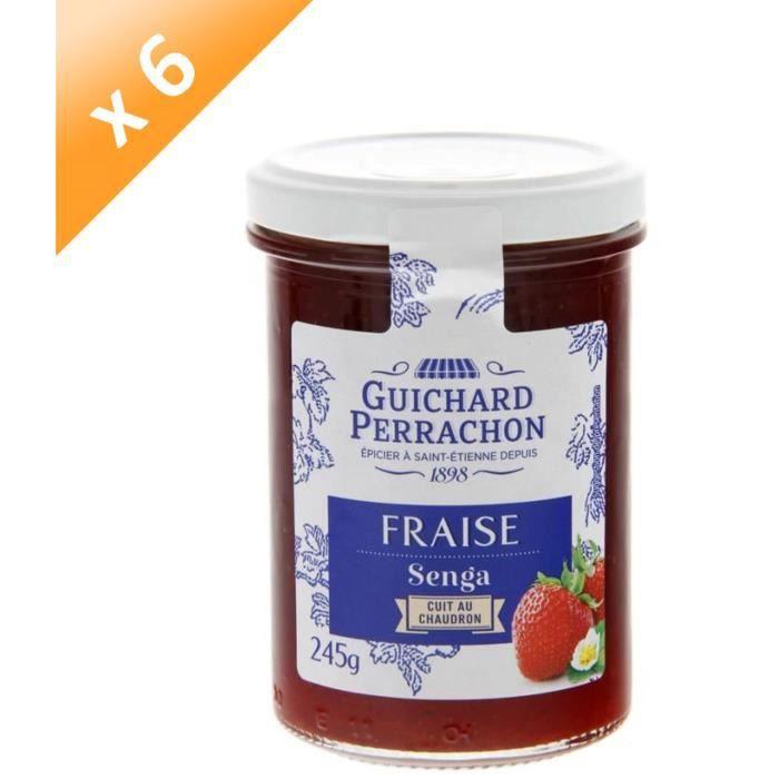 [LOT DE 3] GUICHARD PERRACHON Confiture de Fraises Senga - 245 g