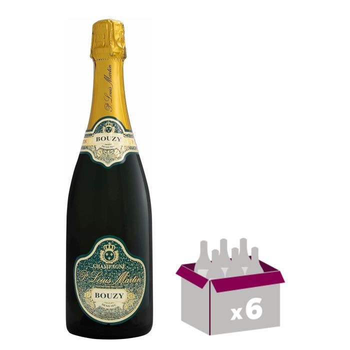 Paul Louis Martin Champagne Demi sec - Blanc - 75 cl x 6