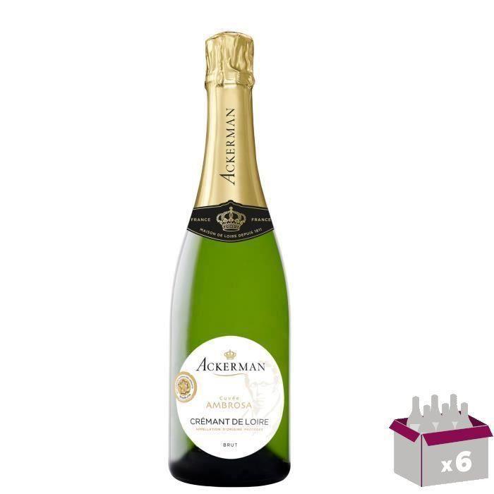 Ackerman Crémant de Loire Ambrosa Blanc Brut 75cl