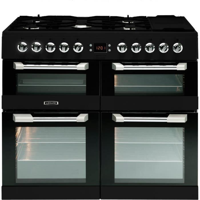 LEISURE CS100F520K Piano de cuisson gaz 5 foyers - Fours électrique - Catalyse - 33L - A - Noir