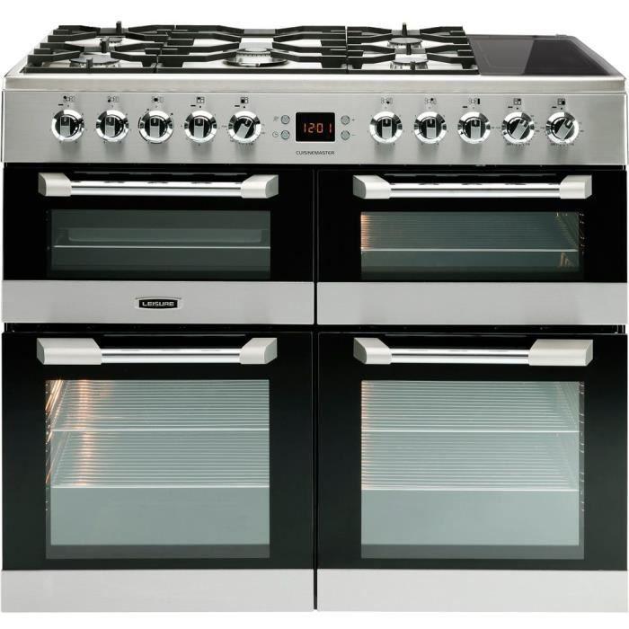 LEISURE CS100F520X Piano de cuisson table gaz-5 foyers-9,6kWh-Fours électrique:4 cavités-Catalyse-63-65-33L-A-Inox
