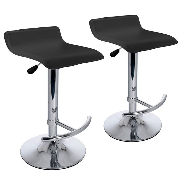 lot 2 tabourets de bar leather achat vente tabouret de bar. Black Bedroom Furniture Sets. Home Design Ideas