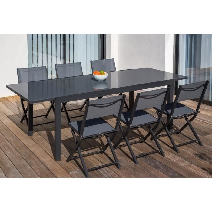Table jardin alu verre achat vente table jardin alu for Vente table jardin