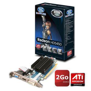 CARTE GRAPHIQUE INTERNE Sapphire ATI Radeon HD5450 2Go DDR3