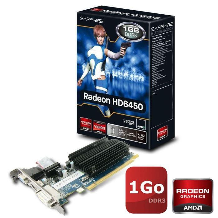 CARTE GRAPHIQUE INTERNE Sapphire AMD HD6450 1Go DDR3