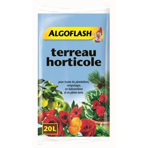 TERREAU - SABLE ALGOFLASH Terreau Horticole - 20 L