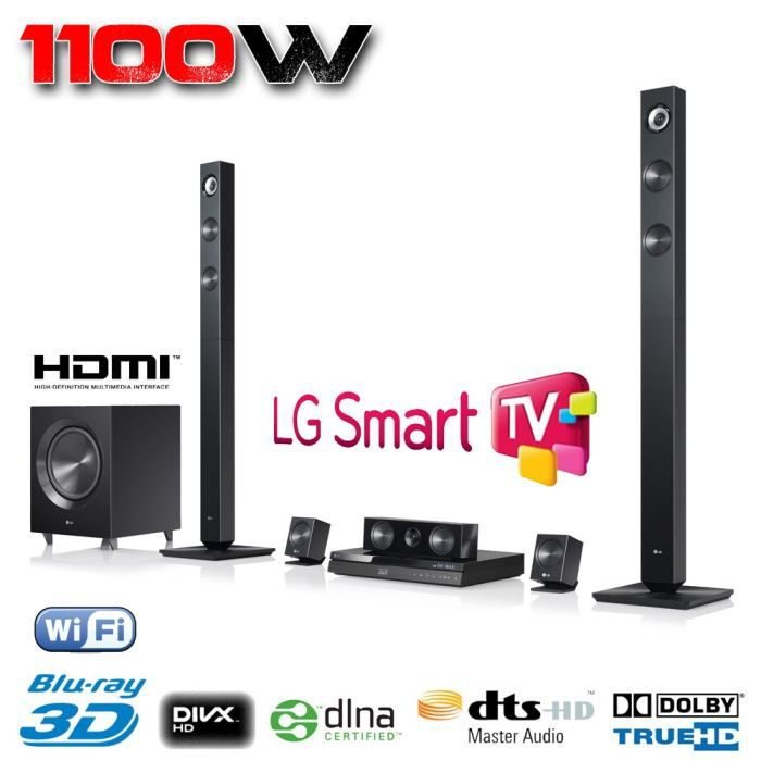 lg bh7420p home cin ma 5 1 blu ray 3d 1100 w achat. Black Bedroom Furniture Sets. Home Design Ideas