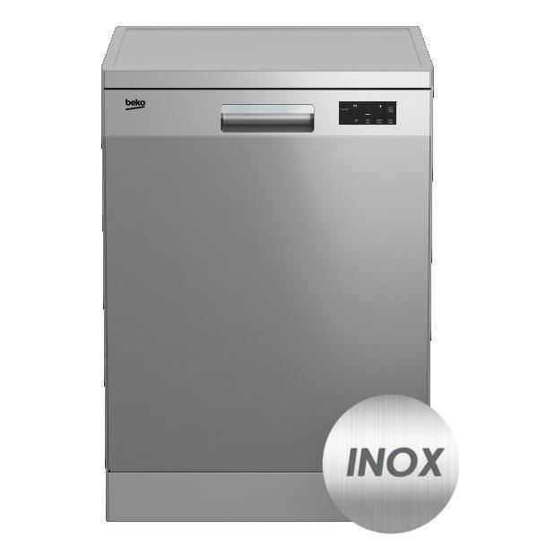 beko dfn16420x lave vaisselle posable 14 couverts a moteur induction inox achat. Black Bedroom Furniture Sets. Home Design Ideas