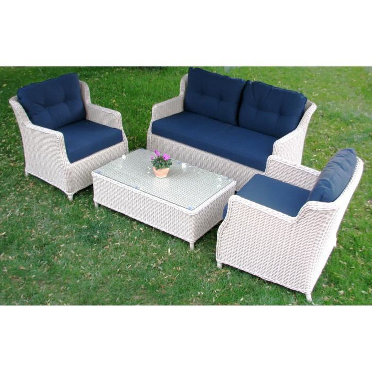 salon de jardin mobilier de jardin rotin poly ensemble de meubles classique el gant confortable. Black Bedroom Furniture Sets. Home Design Ideas