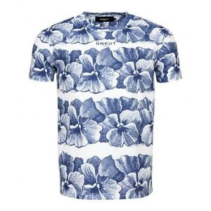 UNKUT T-Shirt Mc Kaolin Homme Bleu et blanc