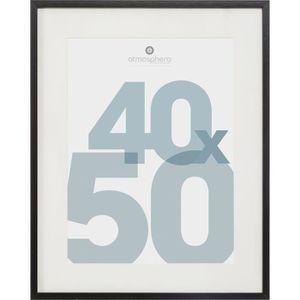 CADRE PHOTO Cadre Photo en MDF et verre - 40 x 50 cm - Noir Ma