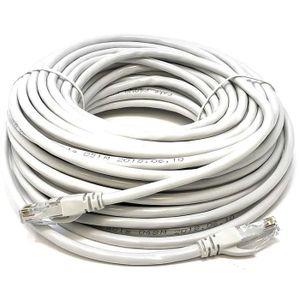 CÂBLE RÉSEAU  Mr. Tronic 30m Câble de Réseau Ethernet | CAT6, AW