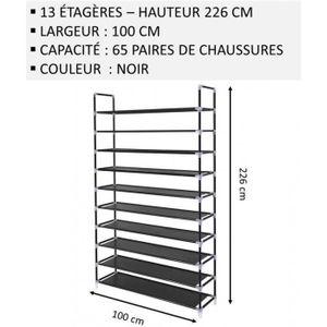 MEUBLE ÉTAGÈRE Meuble Chaussures,No63, Modulable 2 14 Étagères (1