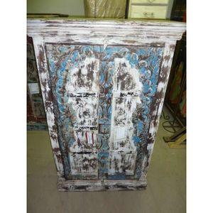 ARMOIRE DE CHAMBRE Armoire basse porte Arche blanche bleue