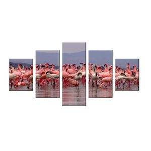tableau flamant rose achat vente tableau flamant rose pas cher cdiscount. Black Bedroom Furniture Sets. Home Design Ideas