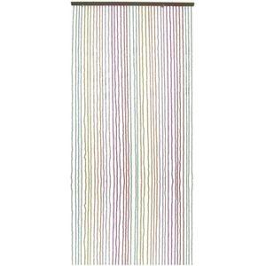 RIDEAU DE PORTE Rideau de porte en perles de bois coloré Multicolo