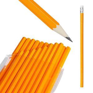 POT À CRAYON Relaxdays Lot de 100 Crayons à Papier avec Gomme,