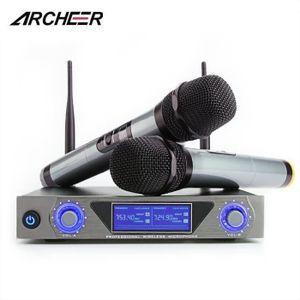 MICROPHONE - ACCESSOIRE ARCHEER Microphone système UHF Récepteur + 2 Micro