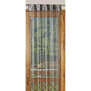 RIDEAU DE PORTE 1 Rideau à fils paillettes bicolore 90x240cm Gris