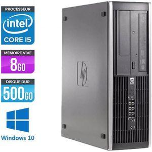 ORDI BUREAU RECONDITIONNÉ Pc de bureau HP 8100 SFF - i5 - 8Go - 500Go HDD -