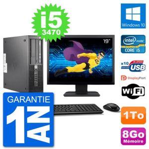 UNITÉ CENTRALE + ÉCRAN PC HP WorkStation Z220 SFF Ecran 19