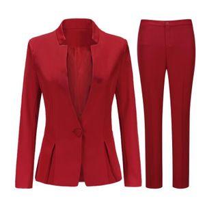 COSTUME - TAILLEUR Costume femme 2 pieces (veste pantalon) un bouton