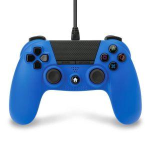 MANETTE JEUX VIDÉO Manette Under Control filaire bleue 3m pour PS4