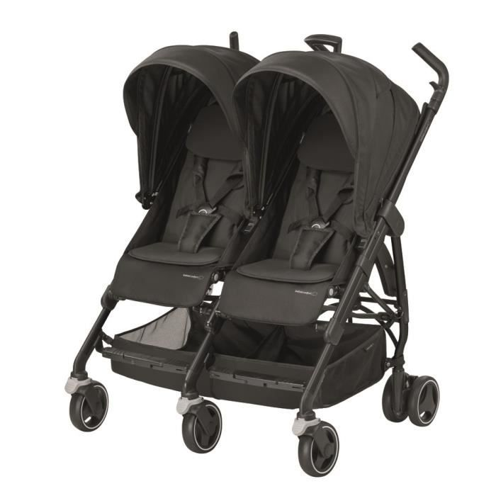 BEBE CONFORT Poussette Canne Double Dana for 2 - Triangle Black