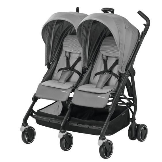 BEBE CONFORT Poussette Canne Double Dana for 2 - Concrete Grey