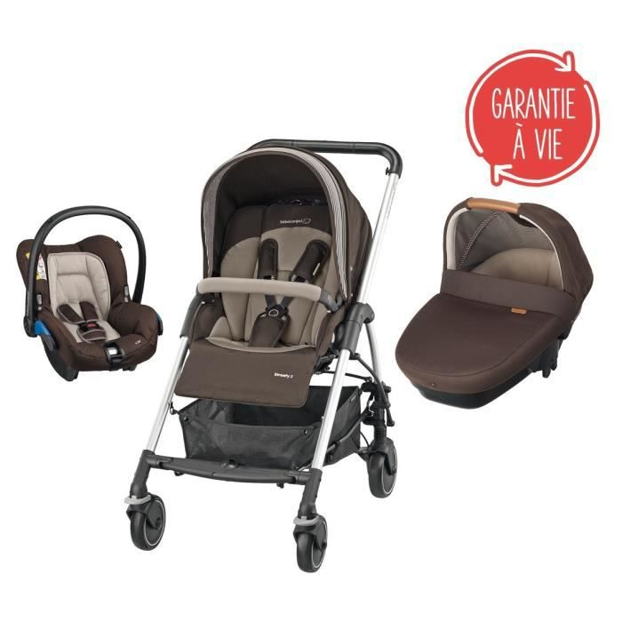 BEBE CONFORT Poussette Combinée Trio Streety Amber - Earth Brown