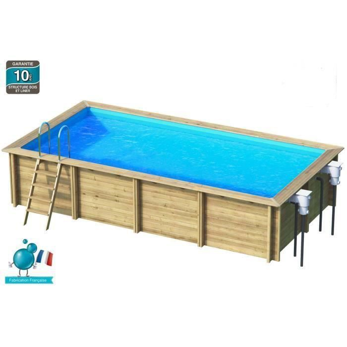 Piscine bois 6x3m for Piscine en bois rectangulaire