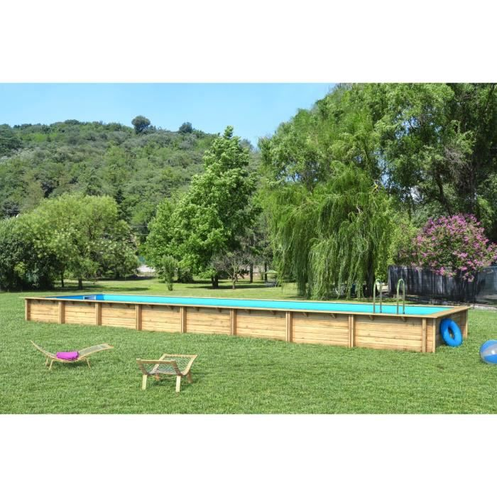 Piscine rectangle for Combien coute une piscine desjoyaux